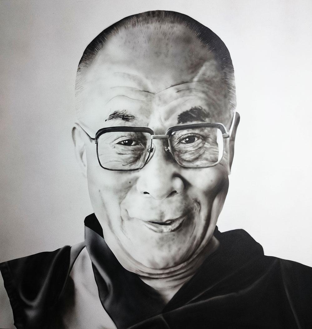 Dalaï Lama – Airbrush portrait
