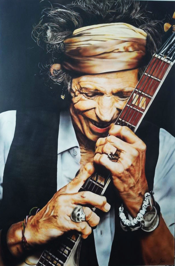 Keith Richards – Airbrush portrait