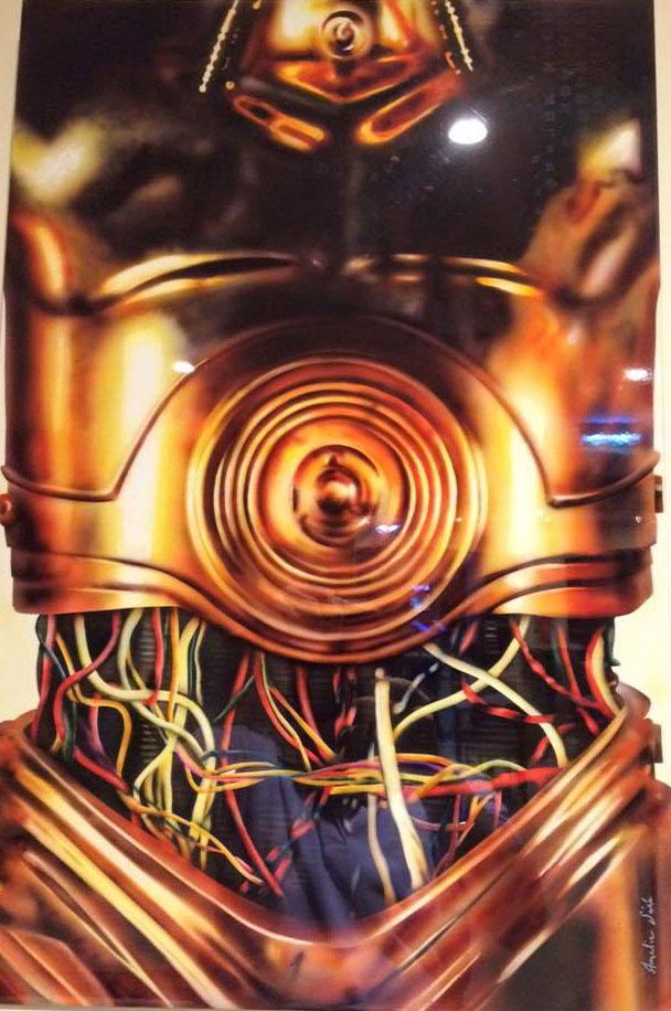 C3PO – STAR WARS AIRBRUSH