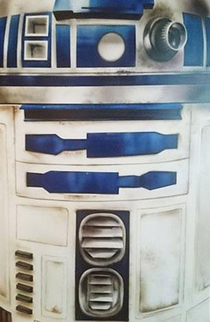 R2D2 – STAR WARS AIRBRUSH